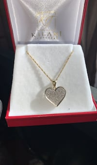 Real Diamond Heart necklace with chain Toronto