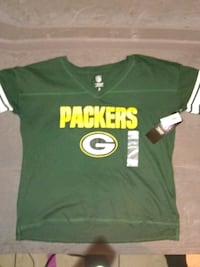 green and white Green Bay Packers jersey Houston, 77069