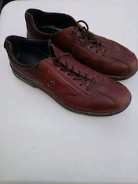 Ecco Brown Leather Mens Shoes