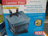 Rena XP1 fish tank canister filter 36 km