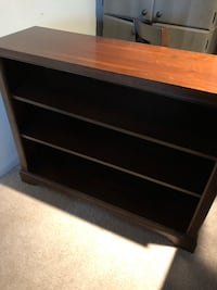 Brown wooden bookcase/tv stand Rockville, 20850