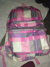 pink and gray plaid backpack Melbourne, 32901