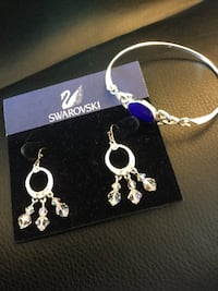 Swarovski earrings and Sterling silver Lapis gemstone bracelet / Priced separate come visit Alexandria, 22311