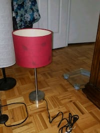 Two red and white table lamps Côte Saint-Luc, H4W 2B9