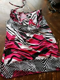 women's black and white zebra print dress Calgary, T3M 0C7