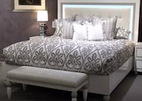 Designer Queen LED bed with USB chargers Hayward, 94544