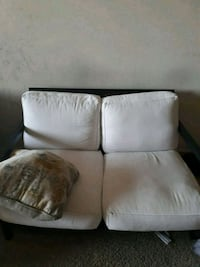 white leather 3-seat sofa Upper Marlboro, 20774