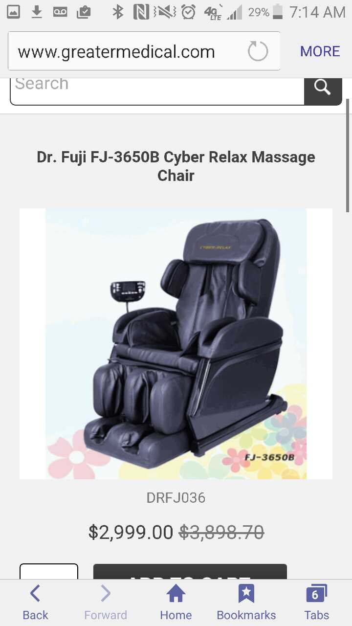 Used Cyber Relax Massage Chair For Sale In Springdale   Letgo
