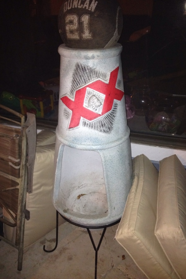 Dos Equis Chiminea With Stand