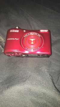 red Nikon Coolpix point-and-shoot camera New York, 10303