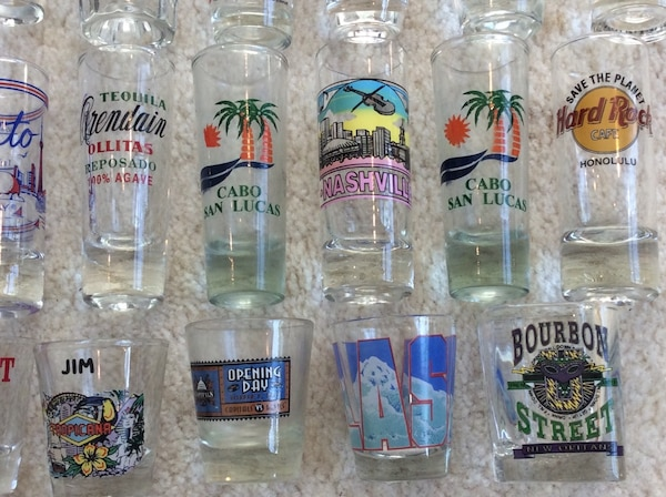 37 Unused Shot Glasses - from all over