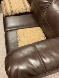 brown leather padded sofa chair Vienna, 22182