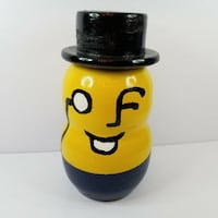 "Vintage Hand Painted Planters Mr Peanut Ceramic Figure - 11"" Toronto"