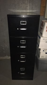 Black metal 4-drawer filing cabinet Woodbridge, 22191