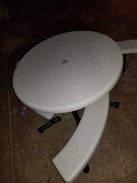 White and gray metal base outdoor table Menifee, 92584