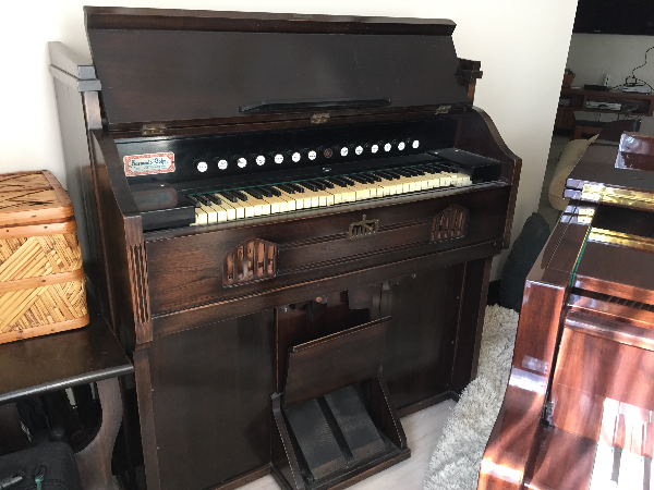 brown upright piano ROSLYN