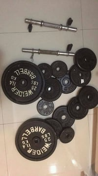 black and gray barbell and dumbbells Brooklyn, 11204
