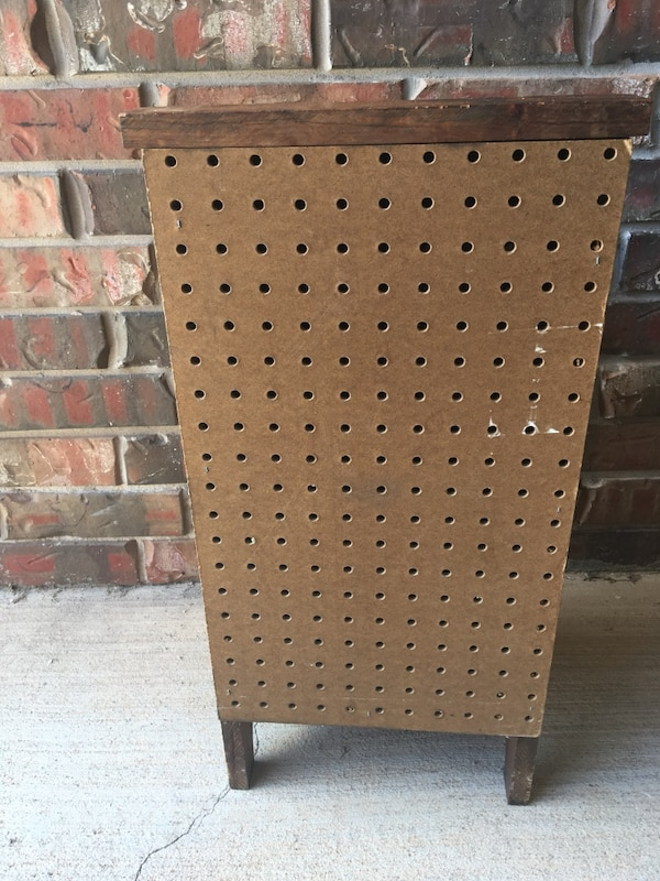 """NICE VTG Handmade & Hand Painted Wood """"Taters"""" & Onion Storage Bin In Excellent Condition-Norman PU 14ae3b05-f5e4-4004-9a8f-d9c81ece89ca"""