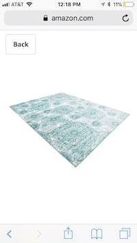 New unique loom Sofia collection medallion turquoise 9x12 area rug