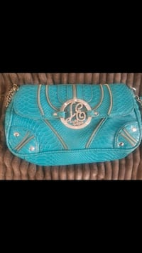 blue leather wristlet Brampton, L6W 2C3