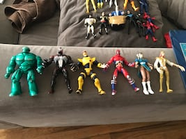 Assorted-character action figure lot