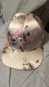 gold and multicolored floral cap