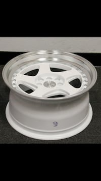 16x8 new white 4x100 4x114.3 15 offset new rims set