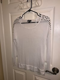 White spiked long sleeve
