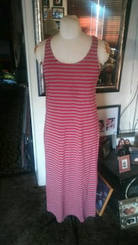 Women's XL red and Gray dress
