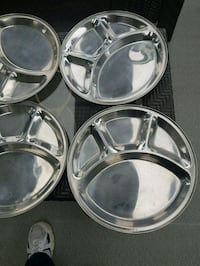 Six Stainless Steel Meal Trays Surrey, V4A