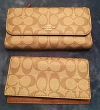 Coach wallet with checkbook holder brand new