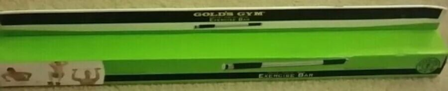 Golds Gym Exercise Bar NIB f6f0f795-a51b-463f-b385-2eb584e3411e