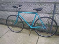 "Mens 26"" coral blue singlespeed roadbike.   Chicago, 60640"