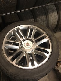 "2013 Cadillac Escalade Premium  22"" OEM wheels and tires with tpm sensors balanced ready to mount $1350"