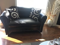 3 piece Black leather sofa and one white Bradford West Gwillimbury, L3Z