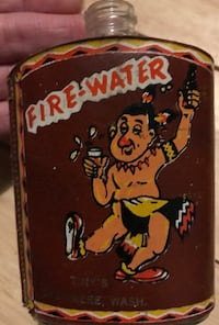 Antique collectible glass flask Fire-Water Spokane, 99217