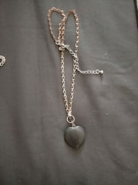 silver chain necklace with heart pendant Santa Fe, 87508