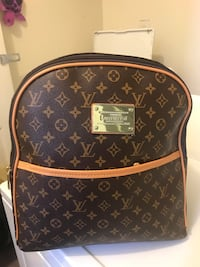 brown Louis Vuitton leather backpack Austell, 30168