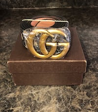 brown leather belt with gold buckle Virginia Beach, 23452