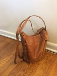 Genuine leather backpack/purse