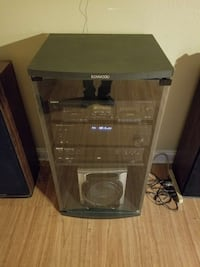 Rack stereo system with Kenwood glass,rack Memphis, 38111