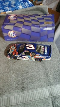blue and white NASCAR die-cast model Seymour, 37865