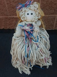 Vintage Mop Doll and Wicker chair St. George, 84770