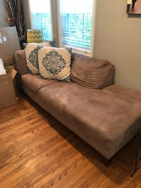 Grey Chaise Style Couch, Gently Used Very Nice   Cheverly, 20785