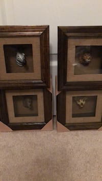 Set of 4 wall animal head picture