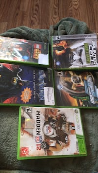 six assorted Xbox 360 game cases Medford, 97501