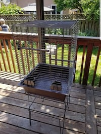 Very good condition bird cage plus toys and bird stand. Mississauga, L5R 1M6