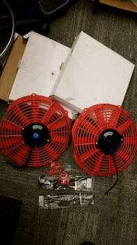 "12v 80 w 11"" Red Electric Radiator Push / Pull Fan Newark, 19711"