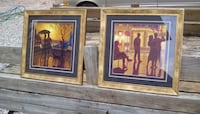 two brown wooden framed painting of people DAHLONEGA