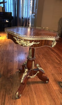 Antique Walnut and Mahogany Side Table (set of two)